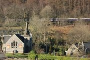 Ballyhennan Church and the West Highland Line