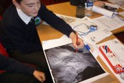 investigating aerial photos