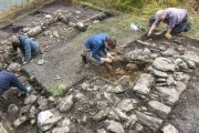 structure at Creag A 'Phuirt being excavated