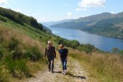 walking above Loch Long
