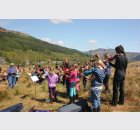 young fiddlers at excavation Open Day